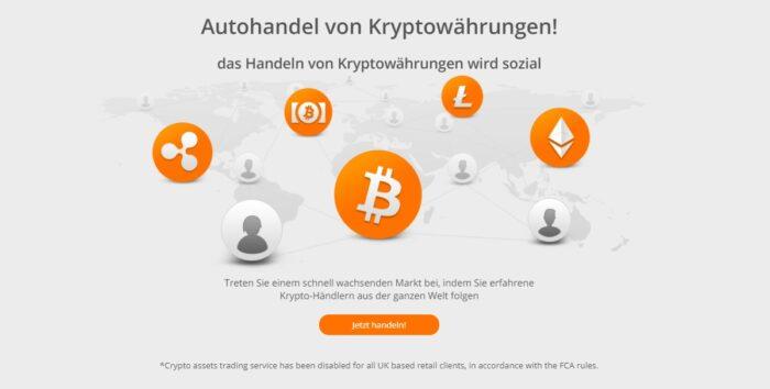 ZuluTrade bietet auch den Autohandel von Kryptowährungen an