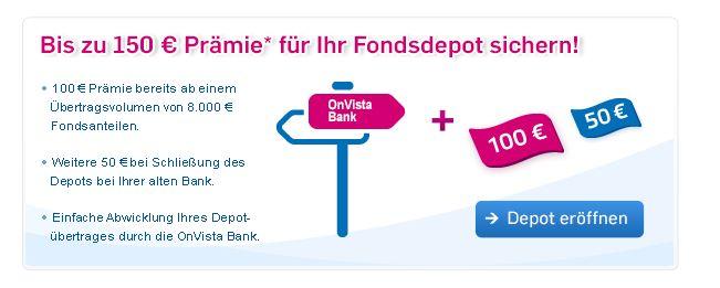 OnVista 5 Euro Festpreis Depot