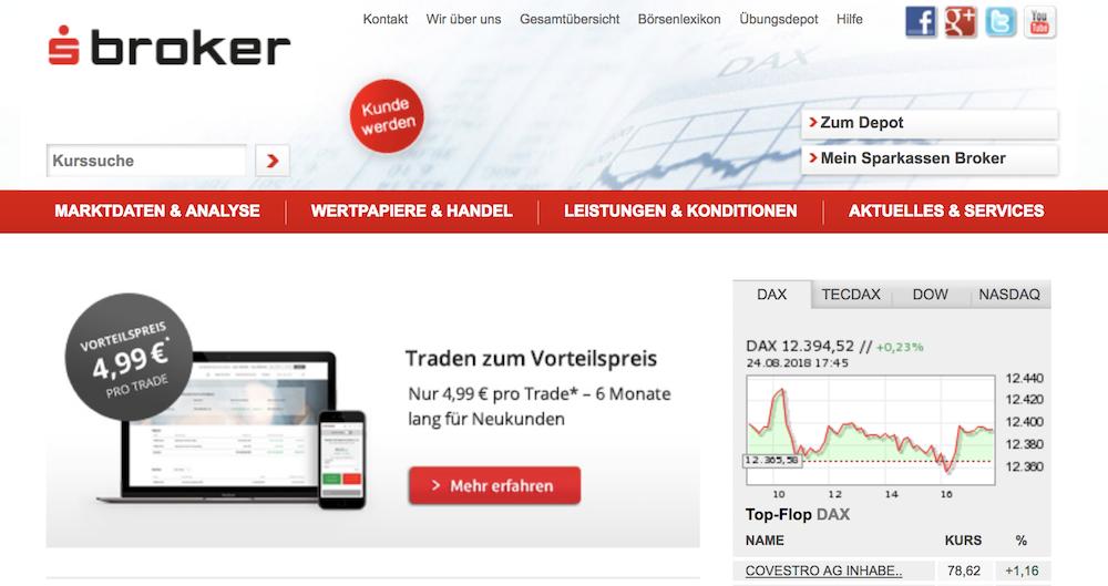 S Broker Homepage