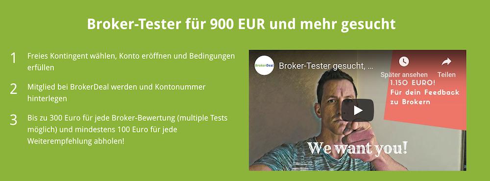 BrokerDeal Aktion Erklärung