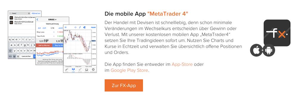 flatex MetaTrader 4 App