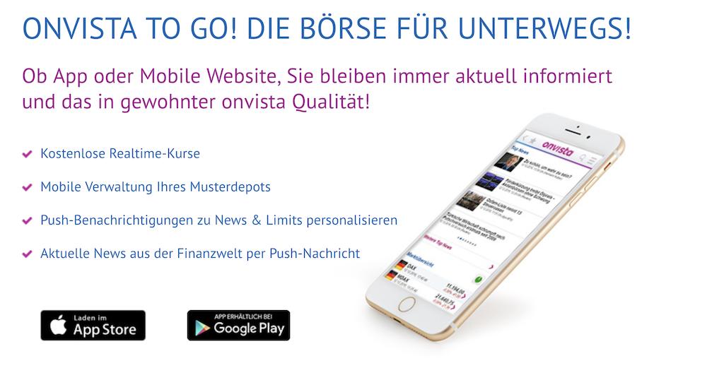 OnVista Bank App Push-Benachrichtigungen