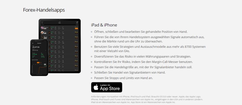 ZuluTrade bietet auch eine Forex-Handelsapp für das iPad & iPhone