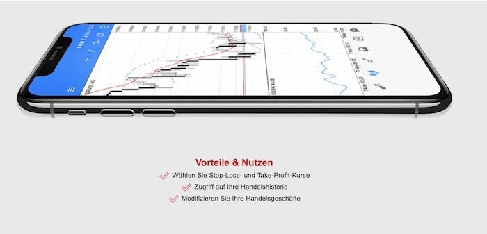 HF Markets mobiler Handel